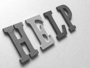 「HELP」ボード